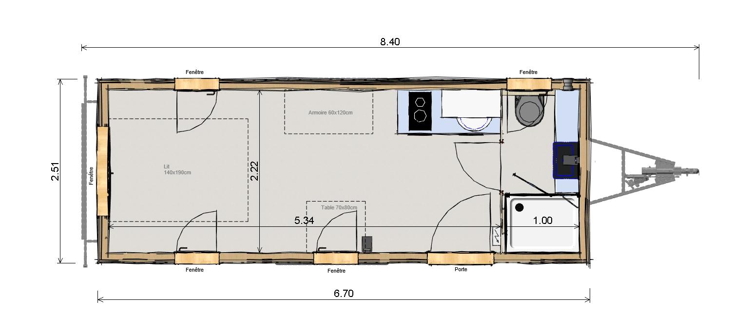 Plan Tiny House JADE- Les Frenchies