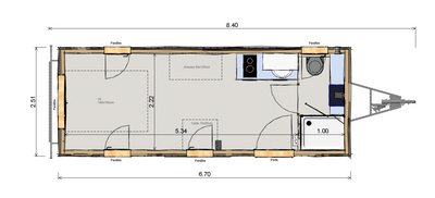 Tiny House plan Jade Les Frenchies
