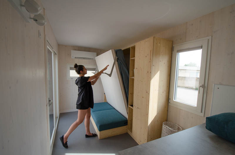 Tiny House Les Frenchies lit escamotable