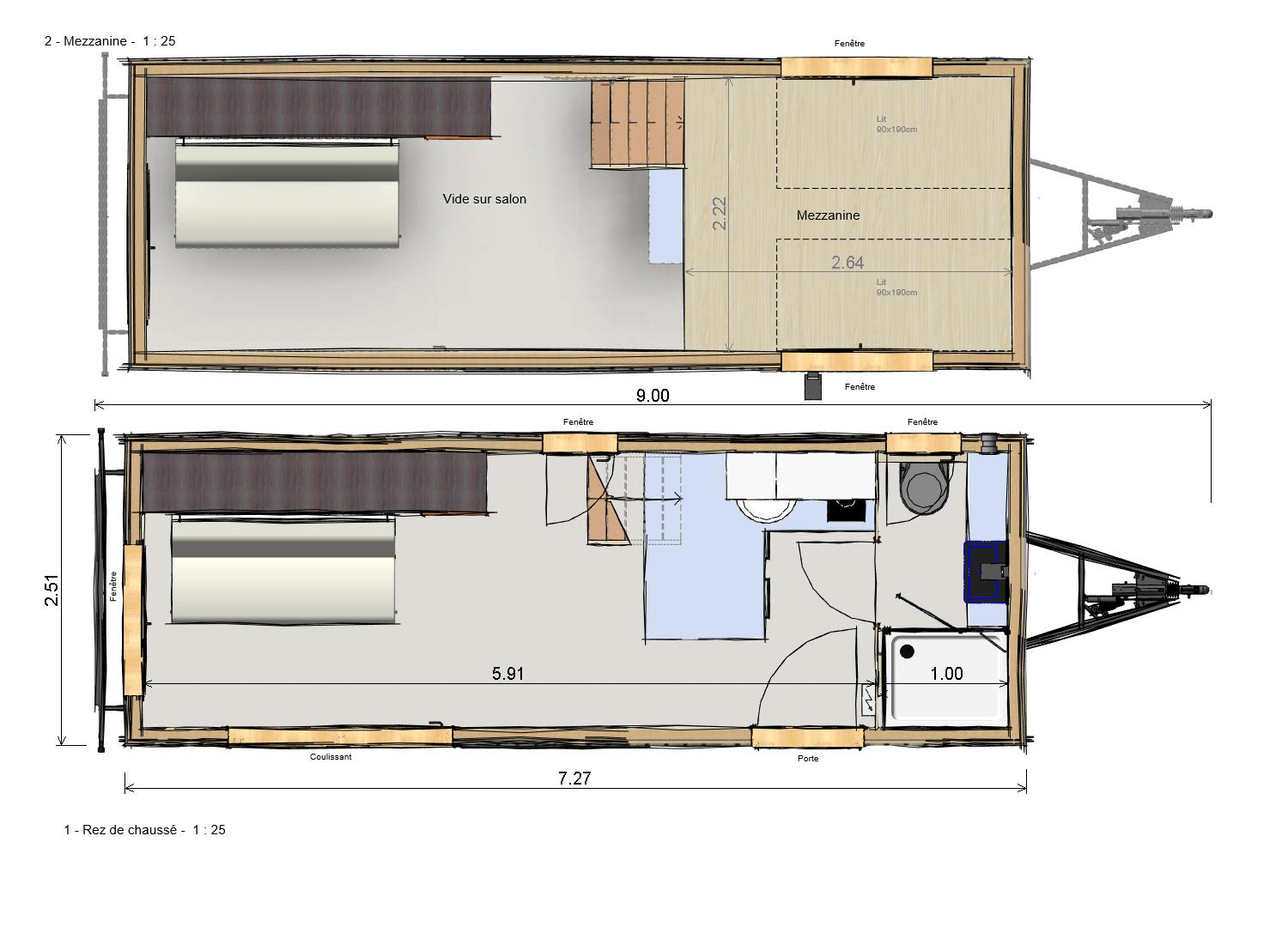 Plan Tiny House AVENTURINE - Les Frenchies