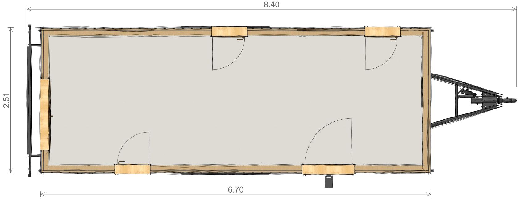 Plan tiny house Ambre